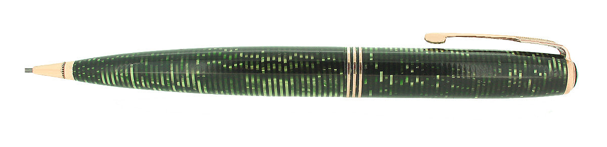 1936 PARKER VACUMATIC EMERALD PEARL OVERSIZE MECHANICAL PENCIL RESTORED OFFERED BY ANTIQUE DIGGER