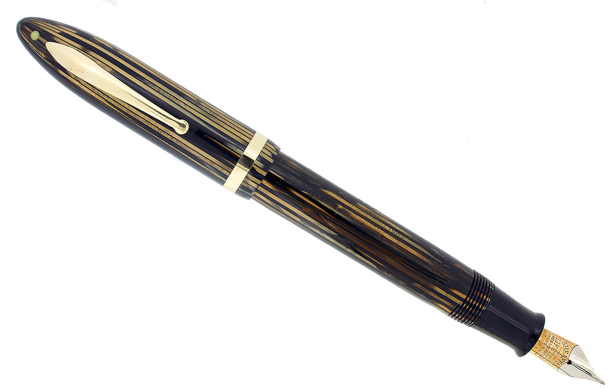 CIRCA 1936 SHEAFFER OVERSIZE GOLDEN PEARL BALANCE FOUNTAIN PEN RESTORED OFFERED BY ANTIQUE DIGGER