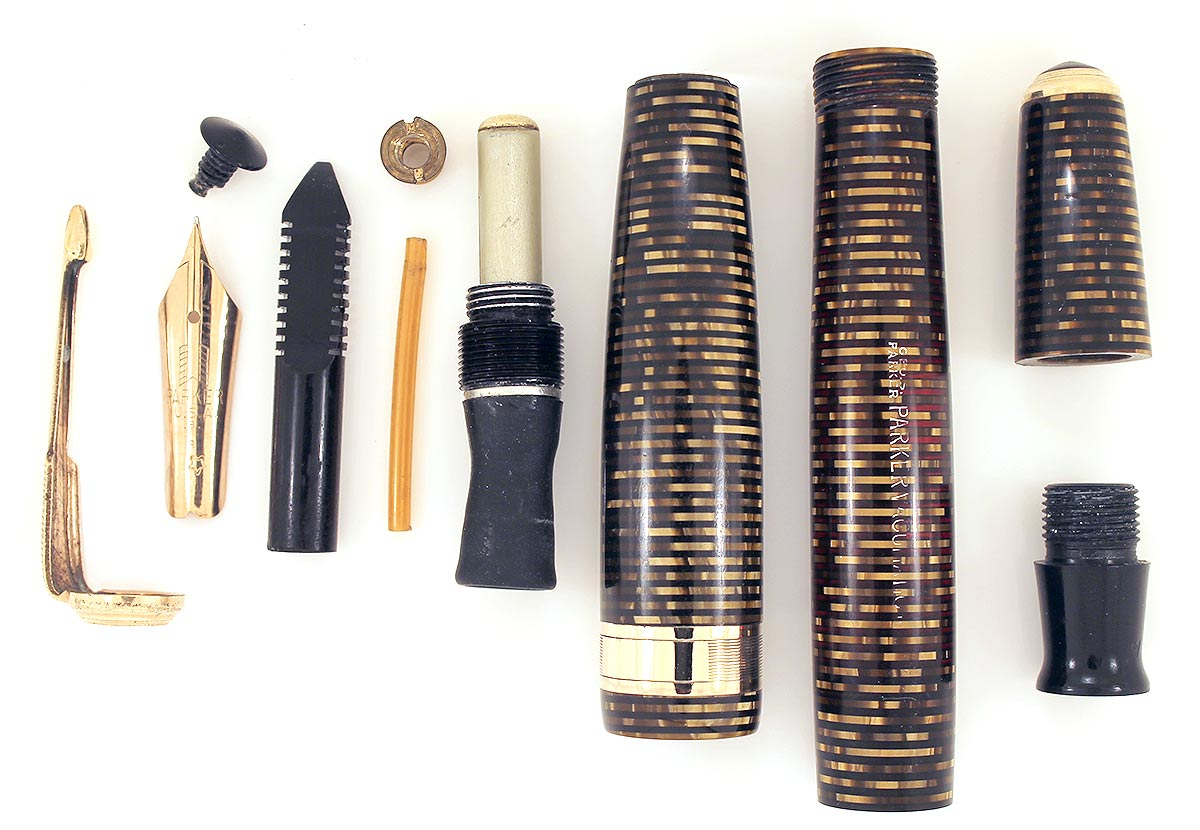 RESTORED 1939 PARKER DOUBLE JEWEL VACUMATIC MAJOR FOUNTAIN PEN WITH JEWELERS CAP OFFERED BY ANTIQUE DIGGER