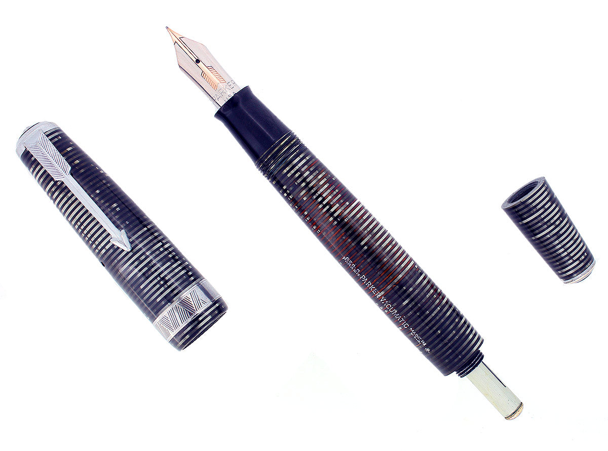 1939 PARKER VACUMATIC SENIOR MAXIMA DOUBLE JEWEL PARKER FOUNTAIN PEN RESTORED OFFERED BY ANTIQUE DIGGER