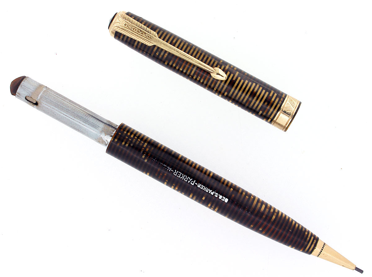 1940 PARKER VACUMATIC GOLDEN PEARL MAJOR SIZE MECHANICAL PENCIL RESTORED OFFERED BY ANTIQUE DIGGER