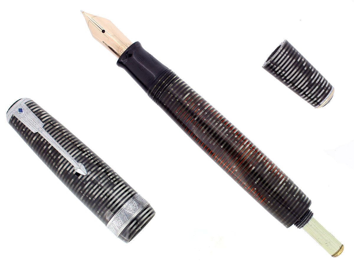 1940 PARKER VACUMATIC DOUBLE JEWEL SENIOR MAXIMA PARKER FOUNTAIN PEN RESTORED OFFERED BY ANTIQUE DIGGER