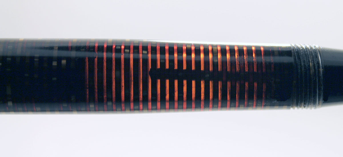 RESTORED 1941 PARKER VACUMATIC DOUBLE JEWEL GOLDEN PEARL CELLULOID FOUNTAIN PEN  OFFERED BY ANTIQUE DIGGER