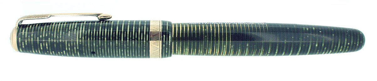 CIRCA 1942 PARKER EMERALD PEARL VACUMATIC MAJOR SIZE FOUNTAIN PEN RESTORED OFFERED BY ANTIQUE DIGGER