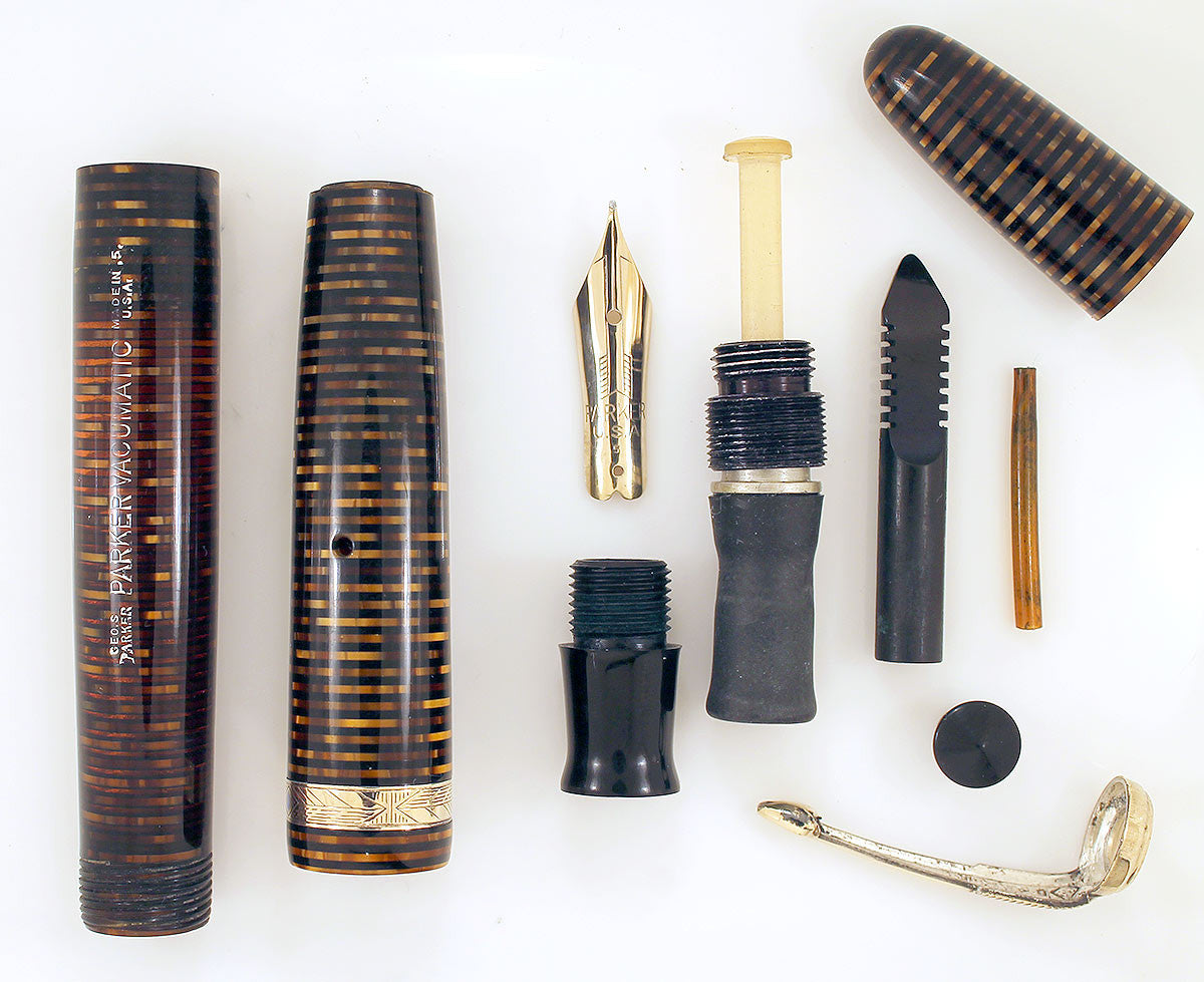 1945 PARKER GOLDEN PEARL VACUMATIC FOUNTAIN PEN XF to BBB+ NIB RESTORED OFFER BY ANTIQUE DIGGER