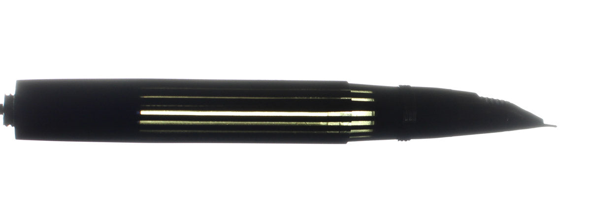 C1945 SHEAFFER LIFETIME JET BLACK PLUNGER FILL FOUNTAIN PEN TRIUMPH NIB RESTORED OFFERED BY ANTIQUE DIGGER
