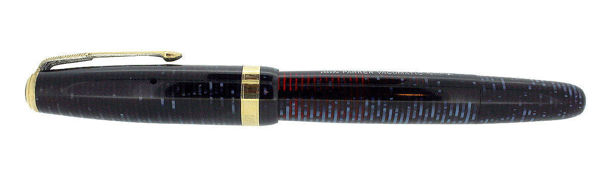 1946 PARKER AZURE PEARL VACUMATIC MAJOR FOUNTAIN PEN GORGEOUS COLOR RESTORED OFFERED BY ANTIQUE DIGGER