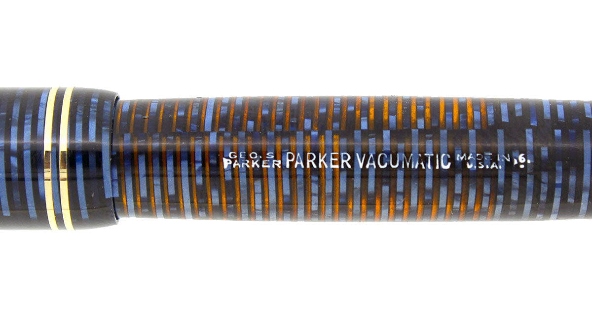 1946 PARKER AZURE PEARL VACUMATIC FOUNTAIN PEN RESTORED OFFERED BY ANTIQUE DIGGER