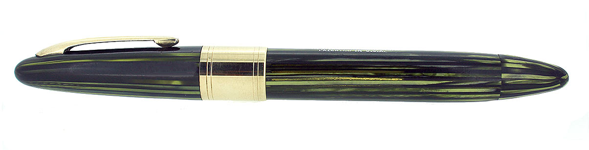 CIRCA 1947 SHEAFFER TRIUMPH VALIANT MARINE GREEN OVERSIZE FOUNTAIN PEN RESTORED OFFERED BY ANTIQUE DIGGER