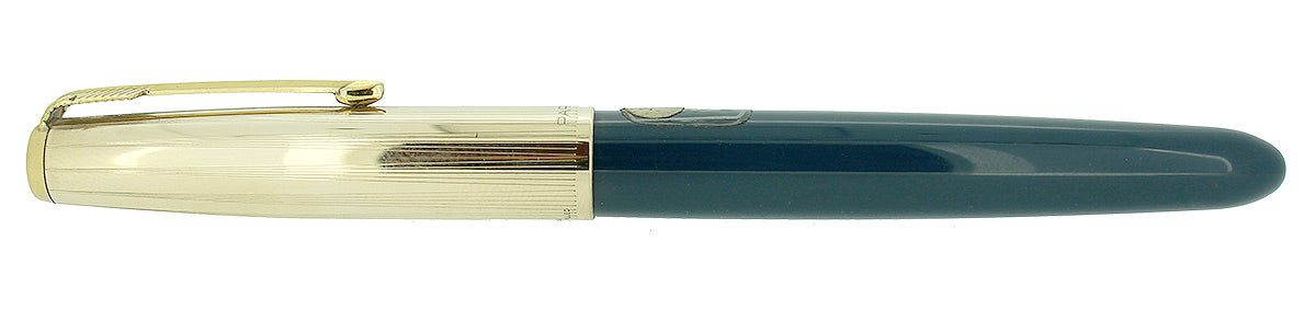 PARKER 51 AEROMETRIC TEAL BLUE FOUNTAIN PEN STICKERED NEVER INKED MINT CONDITION OFFERED BY ANTIQUE DIGGER