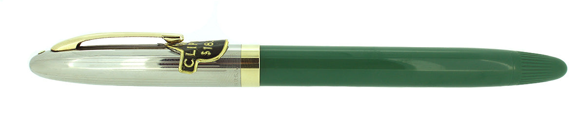 C1952 SHEAFFER CLIPPER PASTEL GREEN SNORKEL M NIB FOUNTAIN PEN NEW OLD STOCK MINT OFFERED BY ANTIQUE DIGGER