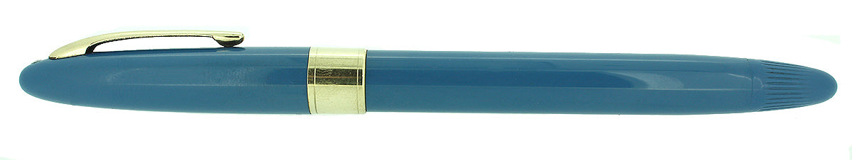 C1952 SHEAFFER STATESMAN PASTEL BLUE SNORKEL F NIB FOUNTAIN PEN NEW OLD STOCK OFFERED BY ANTIQUE DIGGER