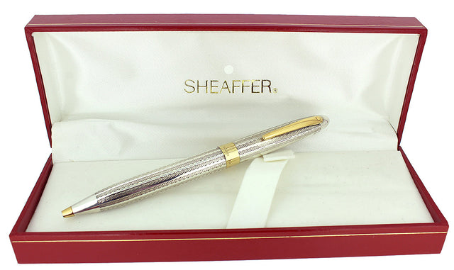 C1993 SHEAFFER CREST STERLING SILVER TWIST ACTION BALLPOINT PEN NEW OLD STOCK OFFERED BY ANTIQUE DIGGER