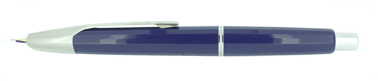 CIRCA 1996 NAMIKI FACETED BLUE VANISHING POINT 14K BROAD NIB FOUNTAIN PEN OFFERED BY ANTIQUE DIGGER