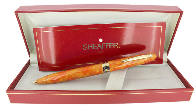 C1996 SHEAFFER CREST CADMIUM YELLOW TWIST BALLPOINT PEN NEW OLD STOCK OFFERED BY ANTIQUE DIGGER