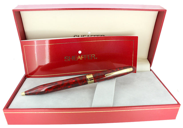 C1996 SHEAFFER CREST FLAME RED TWIST ACTION BALLPOINT PEN NEW OLD STOCK OFFERED BY ANTIQUE DIGGER