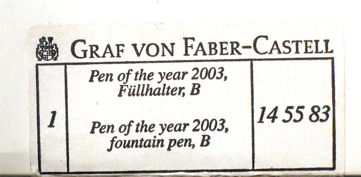 NEW IN BOX GRAF VON FABER-CASTELL 2003 PEN OF THE YEAR SNAKEWOOD MINT CONDITION OFFERED BY ANTIQUE DIGGER