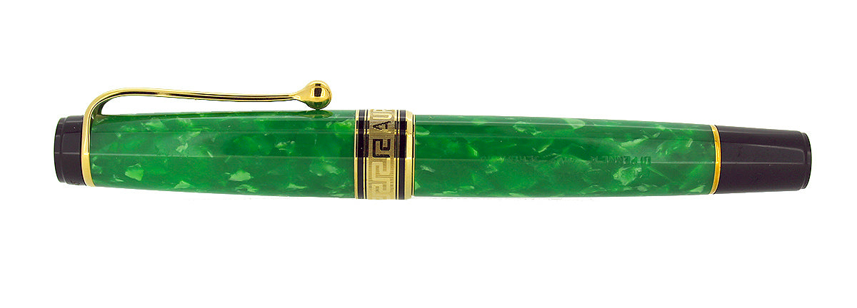 JADE AURORA PRIMAVERA LIMITED EDITION FOUNTAIN PEN 18K STUB NIB MINT NEW OLD STOCK OFFERED BY ANTIQUE DIGGER
