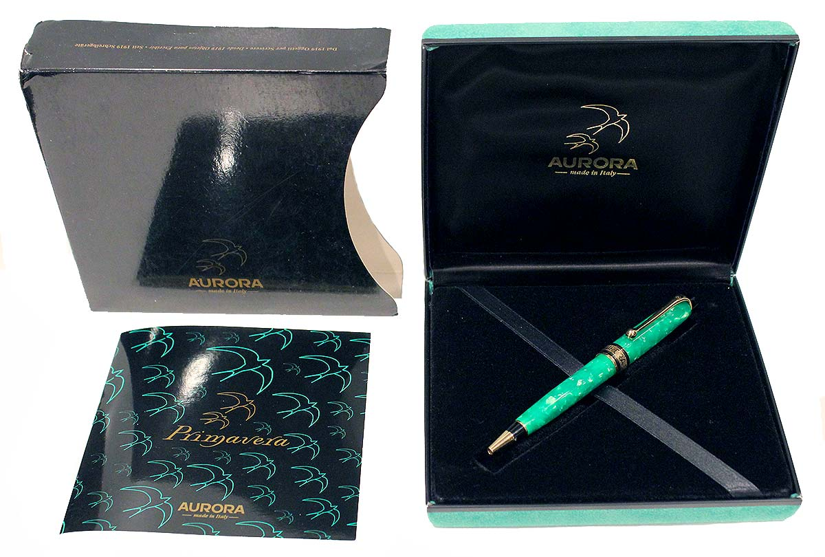 JADE AURORA PRIMAVERA LIMITED EDITION BALLPOINT PEN NEW IN BOX OFFERED BY ANTIQUE DIGGER
