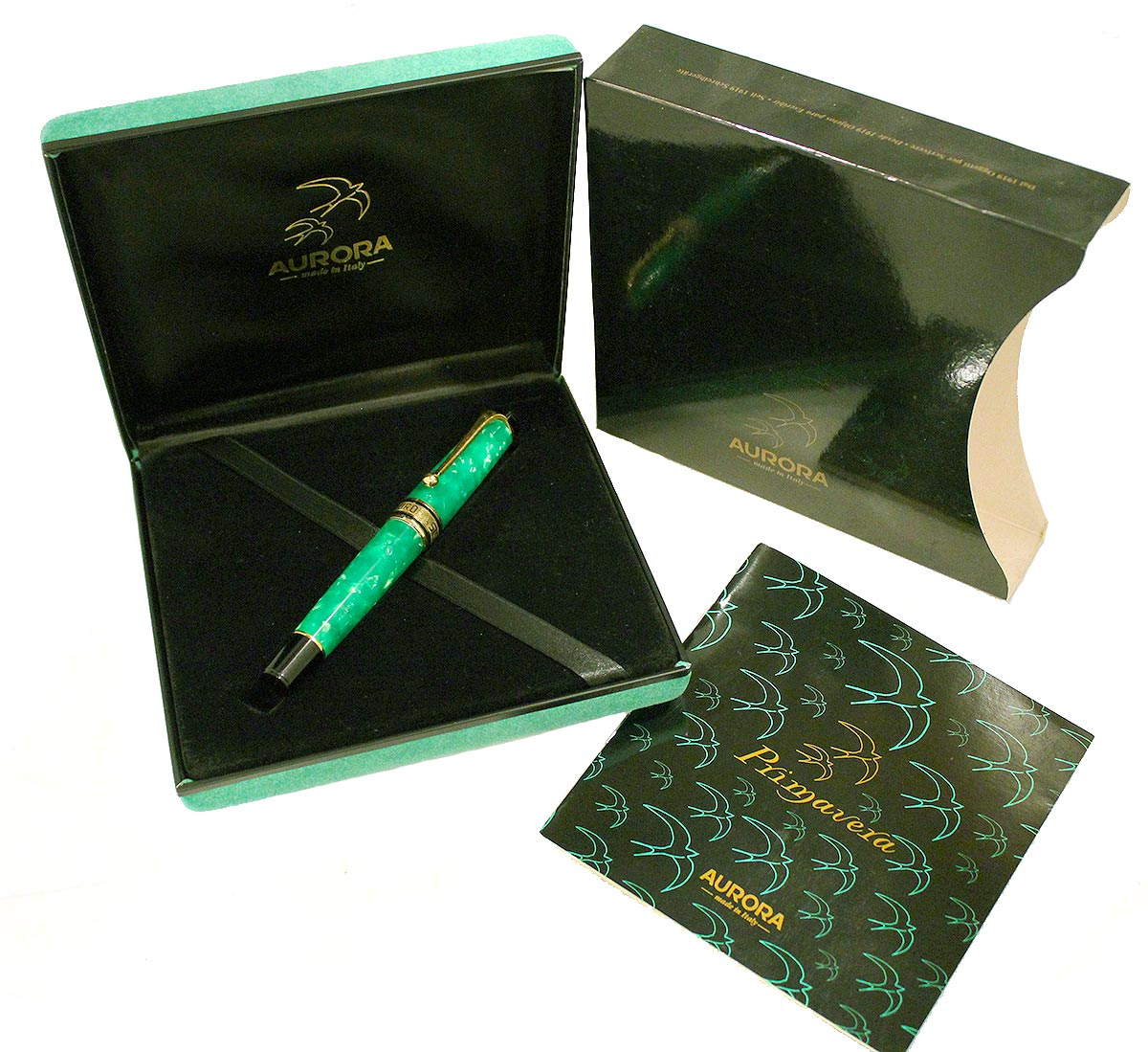 JADE AURORA PRIMAVERA LIMITED EDITION LIMITED EDITION ROLLERBALL PEN NEW IN BOX OFFERED BY ANTIQUE DIGGER