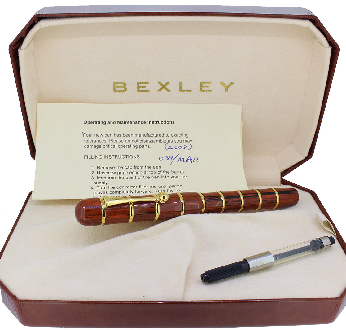 2007 BEXLEY OWNERS CLUB LIMITED EDITION EBONITE FOUNTAIN PEN NEVER INKED MINT OFFERED BY ANTIQUE DIGGER