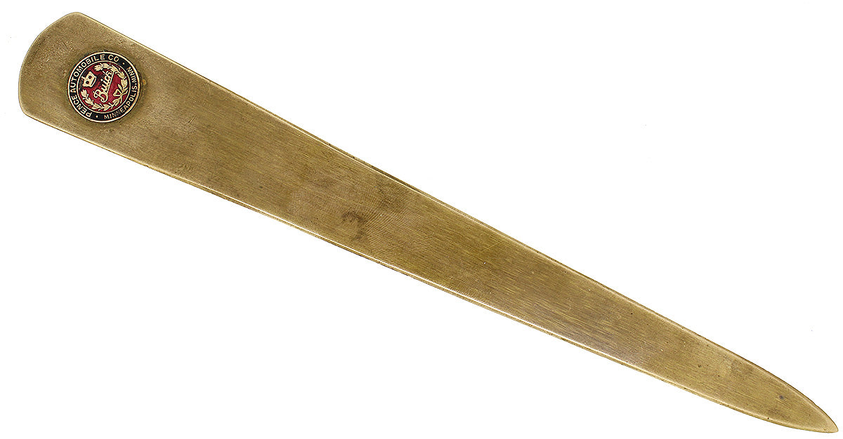 ANTIQUE WHITEHEAD & HOAG BRONZE LETTER OPENER BUICK PENCE AUTOMOBILE CO MINNEAPOLIS, MINN ENAMELED ADVERTISING OFFERED BY ANTIQUE DIGGER