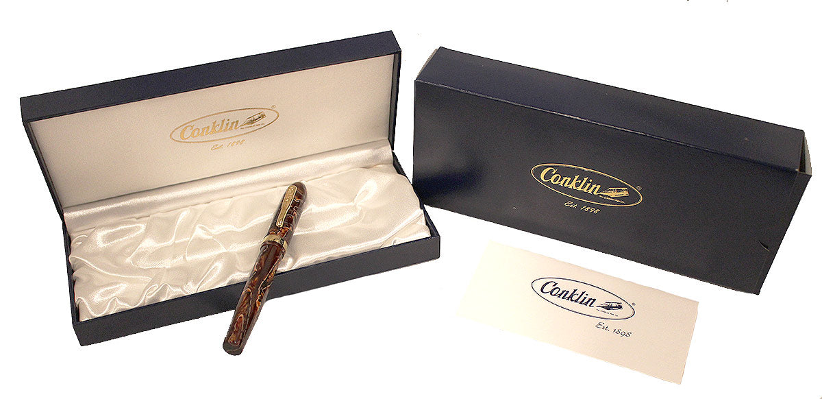 CONKLIN FOUNTAIN PEN NOZAC COLLECTION SEDONA BROWN 14K NIB MINT NEW IN BOX OFFERED BY ANTIQUE DIGGER