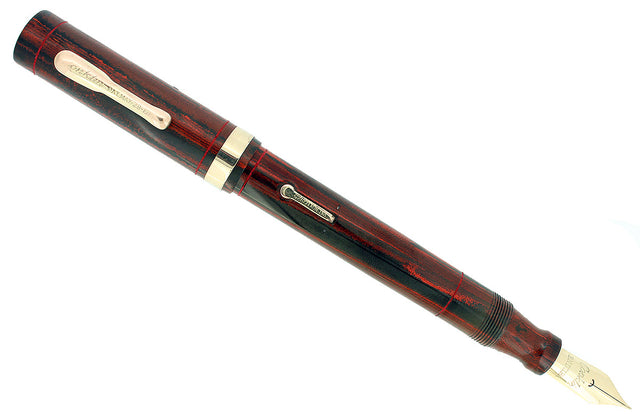 CIRCA 1928 CONKLIN SENIOR ENDURA ROSEWOOD HARD RUBBER FOUNTAIN PEN RESTORED OFFERED BY ANTIQUE DIGGER