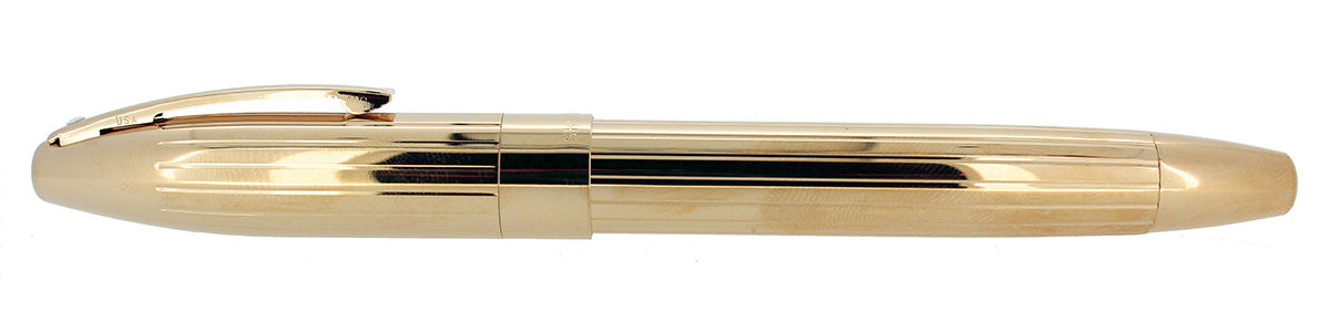 SHEAFFER LEGACY 2 GOLD PLATE FOUNTAIN PEN CUSTOM ORDER 18K FLEX STUB NIB MINT OFFERED BY ANTIQUE DIGGER