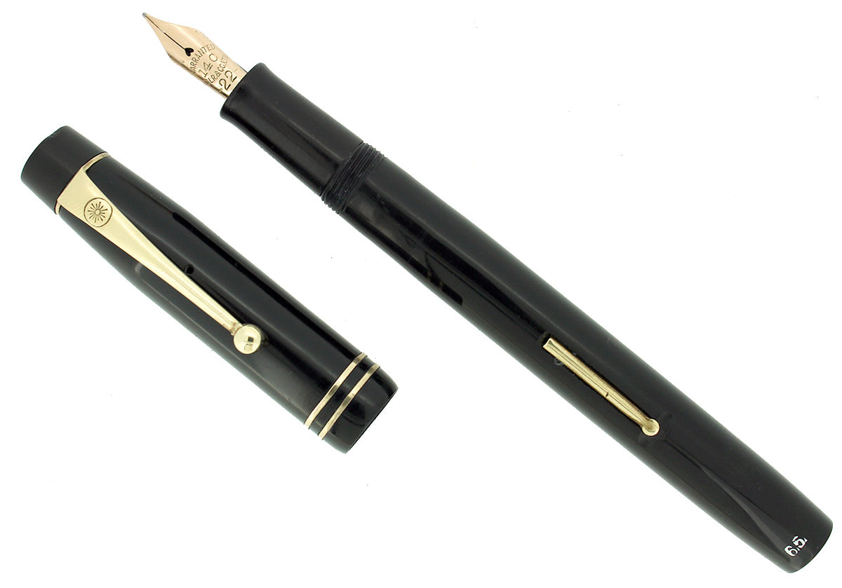 1930s ONOTO DE LA RUE MODEL 332 XF-BB SEMI-FLEX NIB FOUNTAIN PEN RESTORED OFFERED BY ANTIQUE DIGGER