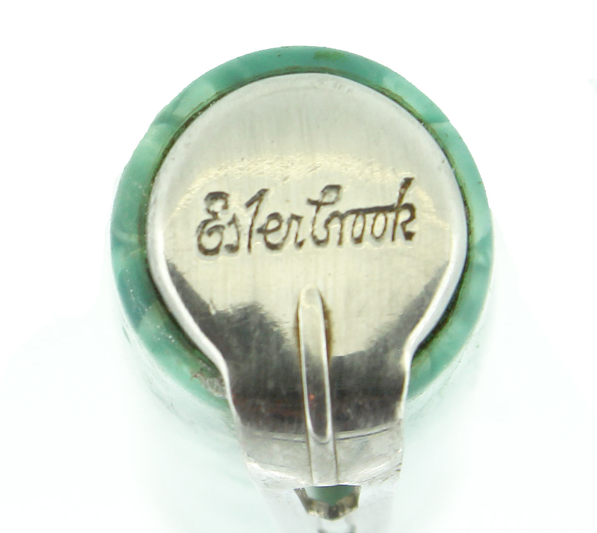 CIRCA 1941 ESTERBROOK CRACKED ICE BLUE GREEN FOUNTAIN PEN CAP PART OFFERED BY ANTIQUE DIGGER