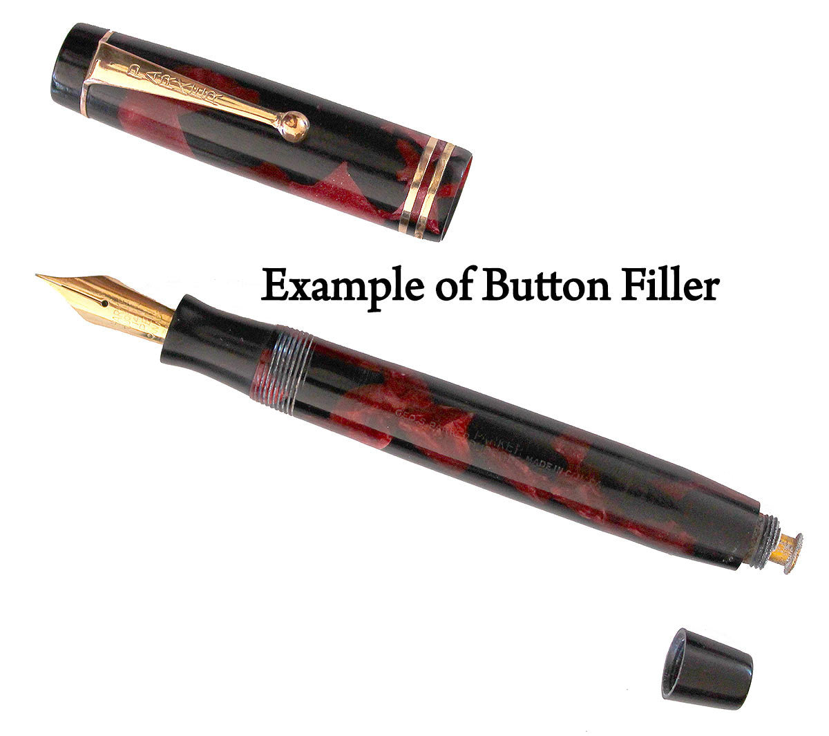 Example of Button Filler with New Rubber Sac