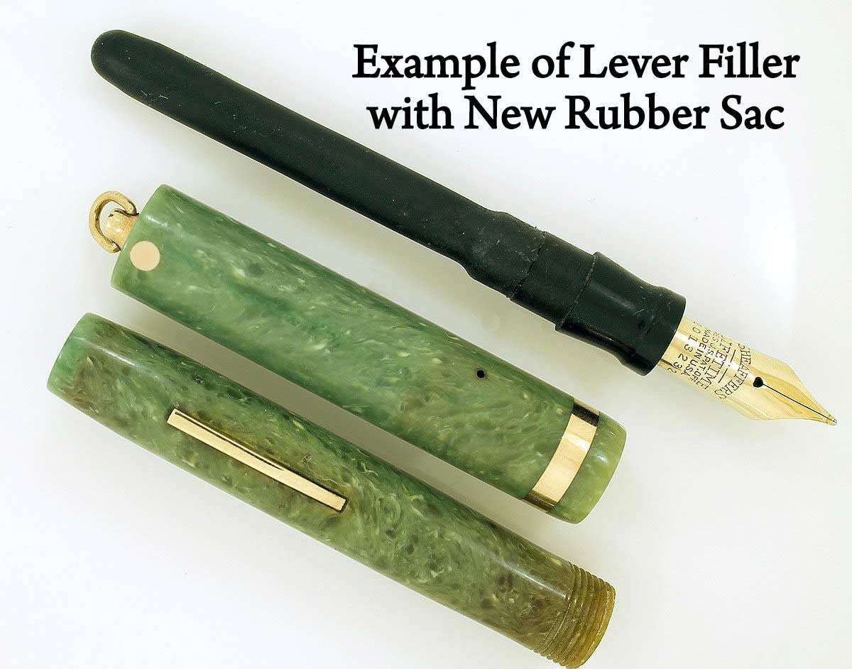 Example of Lever Filler with New Rubber Sac