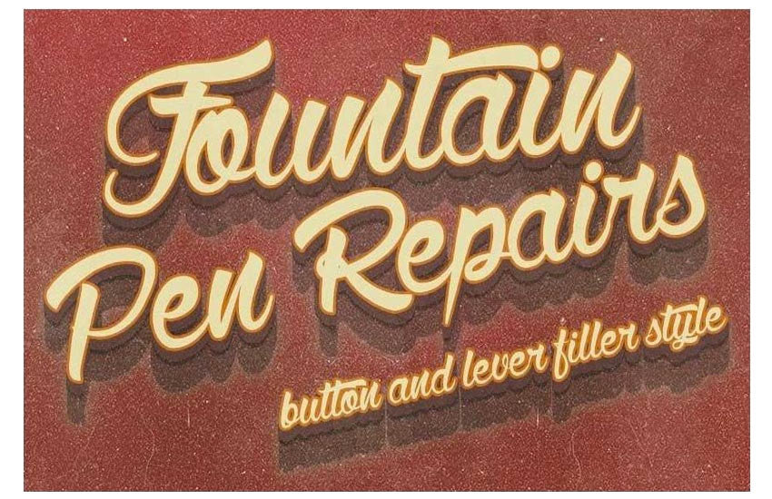LEVER OR BUTTON FILLER FOUNTAIN PEN REPAIR SERVICE