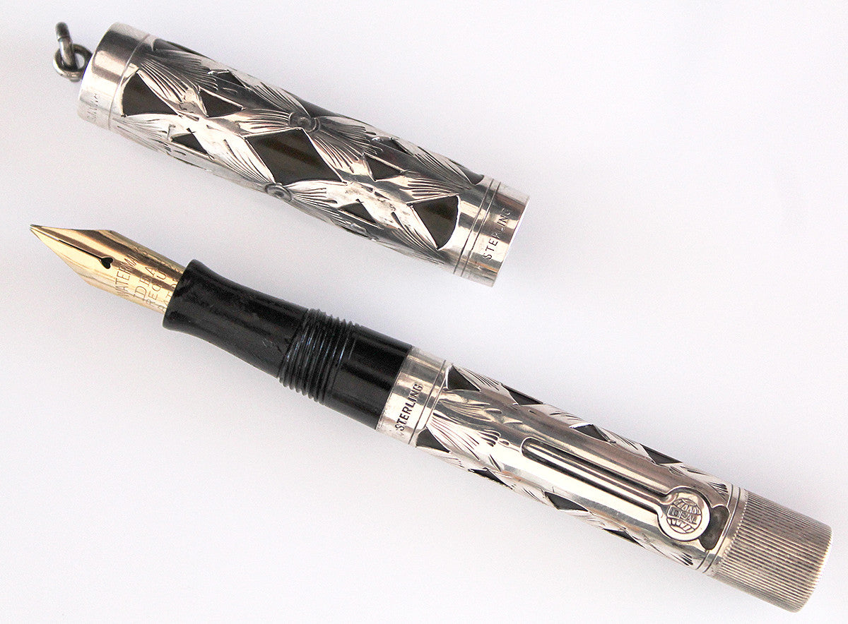 1920s STERLING WATERMAN'S 452 1/2V RING TOP FOUNTAIN PEN