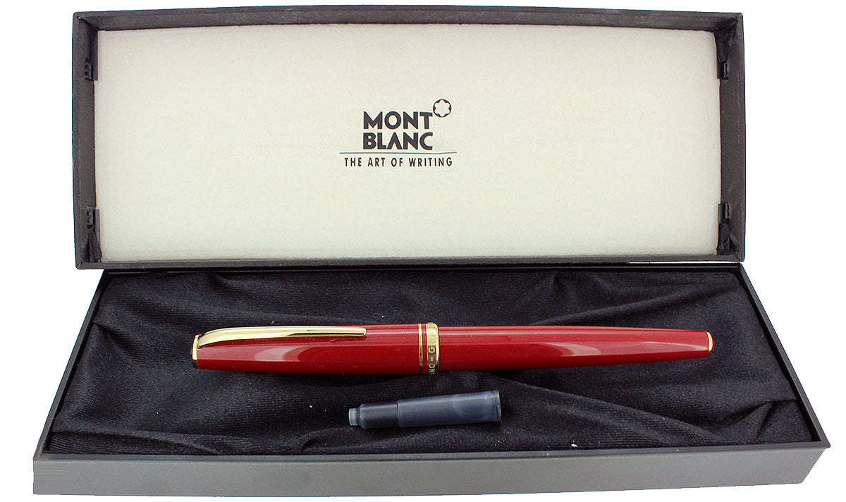 NEW OLD STOCK MONTBLANC GENERATIONS RED & GOLD FOUNTAIN PEN BROAD NIB NEVER INKED STICKERED OFFERED BY ANTIQUE DIGGER