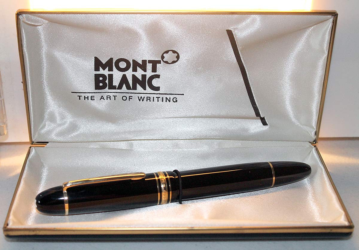 VINTAGE NEW OLD STOCK MONTBLANC MEISTERSTUCK N°149 FOUNTAIN PEN 14C NIB MINT OFFERED BY ANTIQUE DIGGER