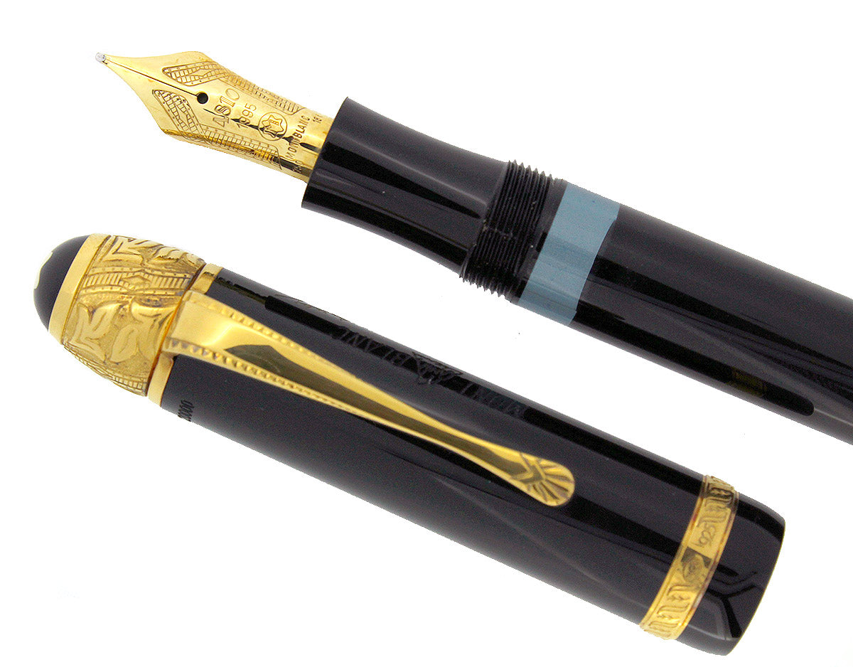 MONTBLANC VOLTAIRE LIMITED EDITION MEISTERSTUCK FOUNTAIN PEN NEW IN BOX WITH PAPERS OFFERED BY ANTIQUE DIGGER