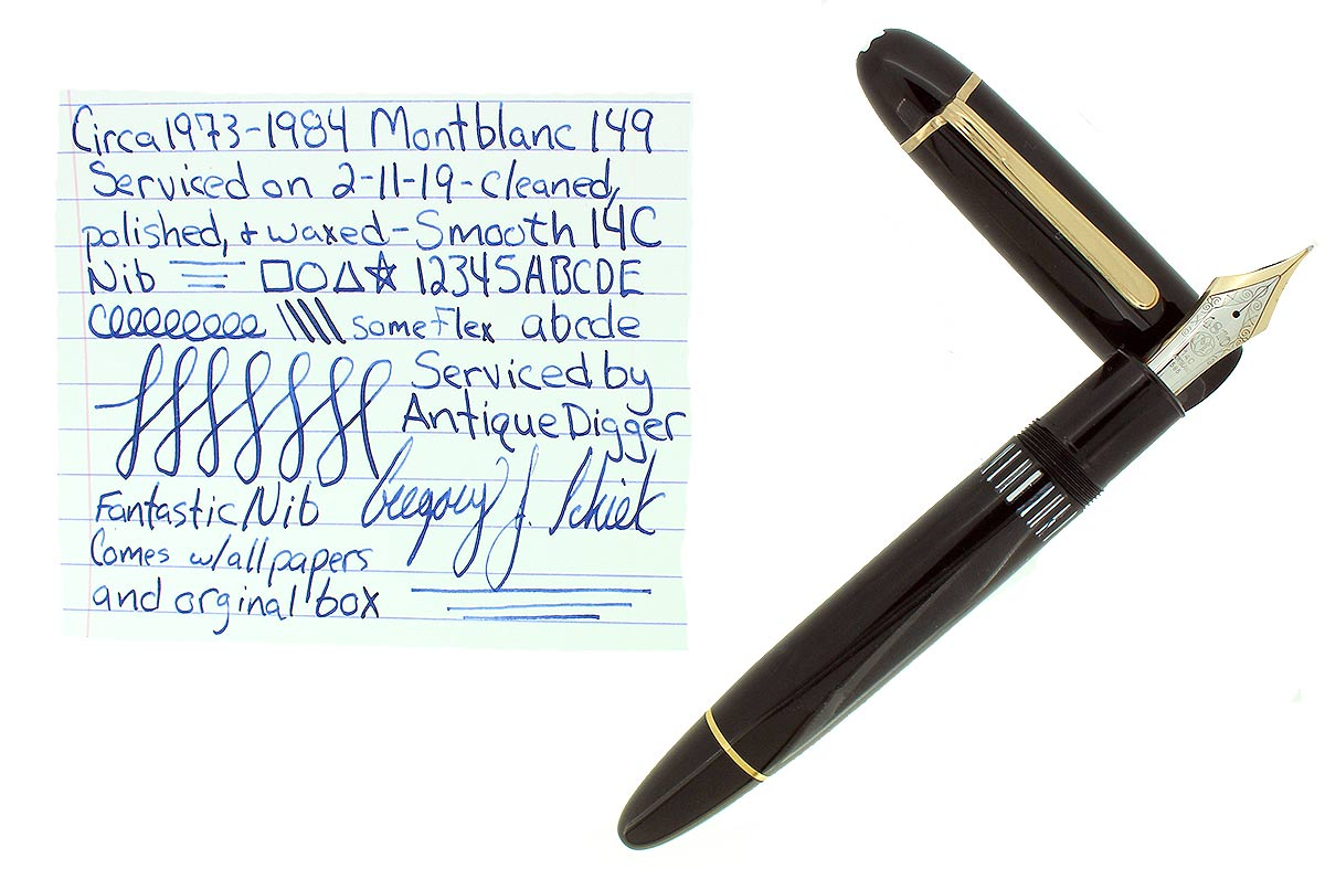 VINTAGE MONTBLANC MEISTERSTUCK N°149 FOUNTAIN PEN 14C 585 NIB GERMANY RESTORED OFFERED BY ANTIQUE DIGGER