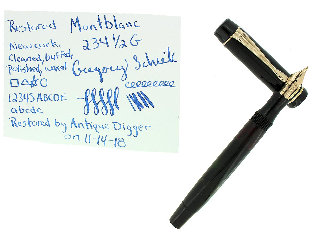 CIRCA 1941 MONTBLANC 234 1/2 G FOUNTAIN PEN F-BB 14C NIB RESTORED OFFERED BY ANTIQUE DIGGER
