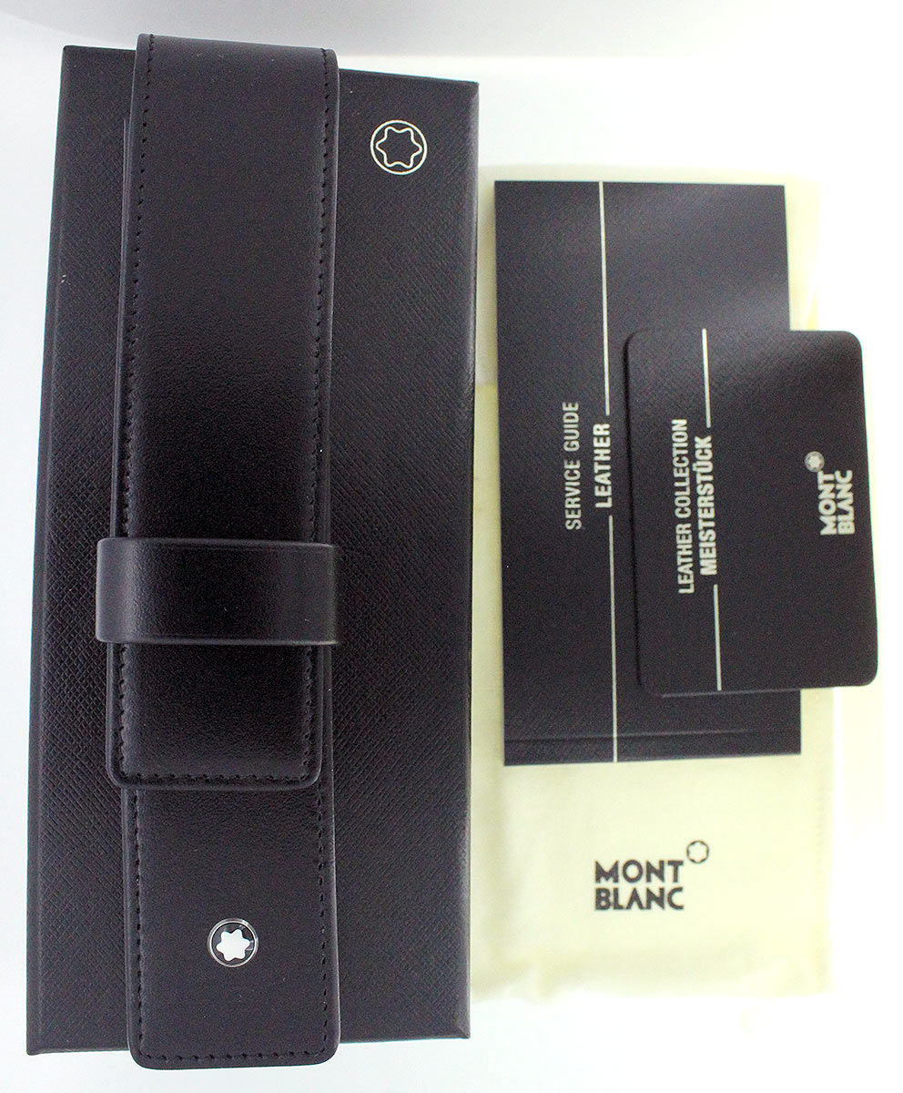 MONTBLANC NEW IN BOX PEN LEATHER CASE MADE IN GERMANY UNUSED MINT CONDITION OFFERED BY ANTIQUE DIGGER