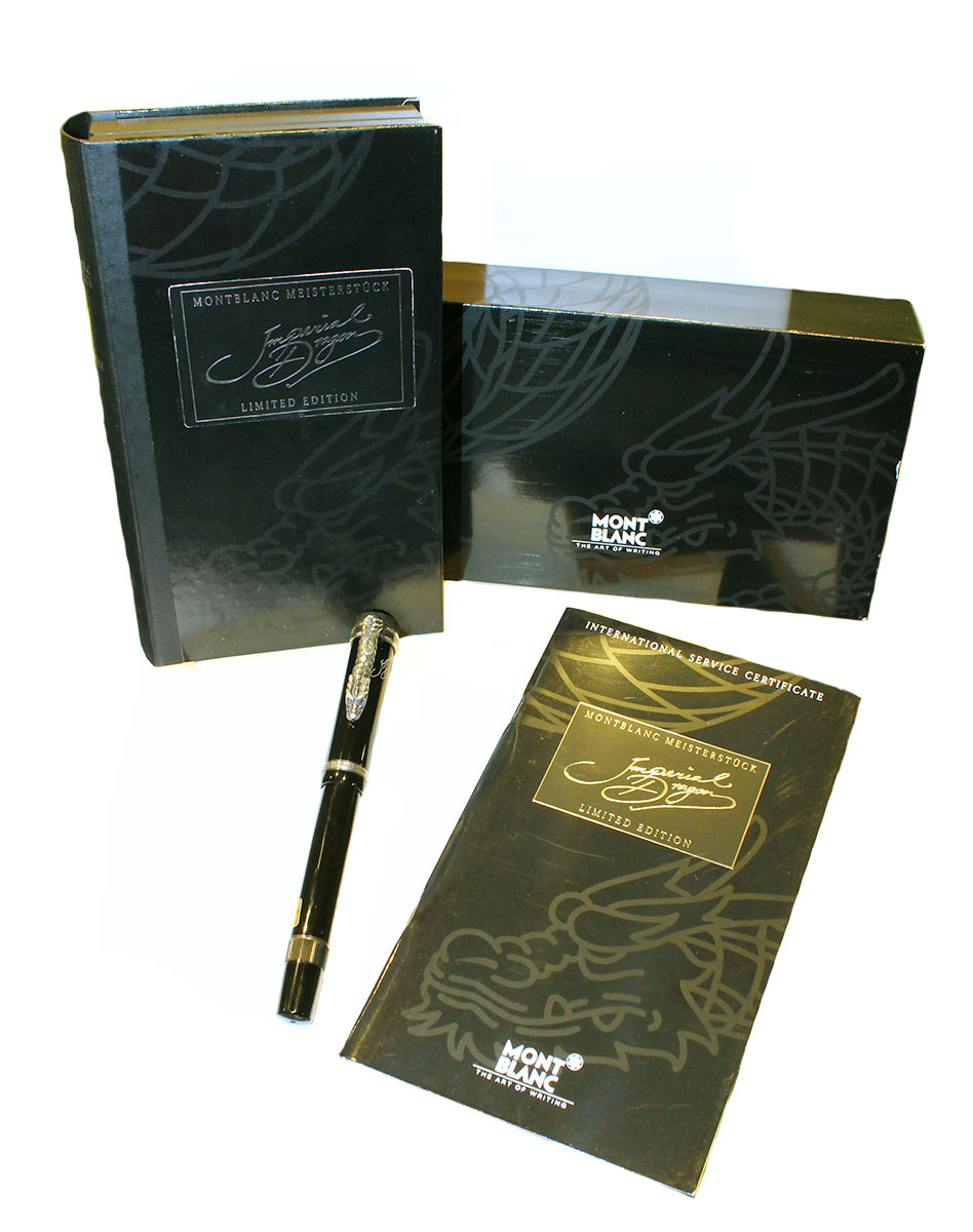 1993 MONTBLANC IMPERIAL DRAGON LIMITED EDITION MEISTERSTUCK 18K B NIB FOUNTAIN PEN OFFERED BY ANTIQUE DIGGER