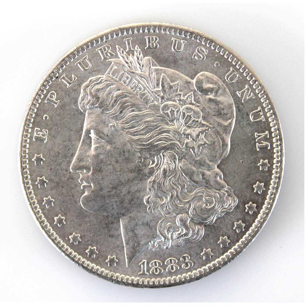 1883-O Morgan Silver Dollar (obverse) from AntiqueDigger.com