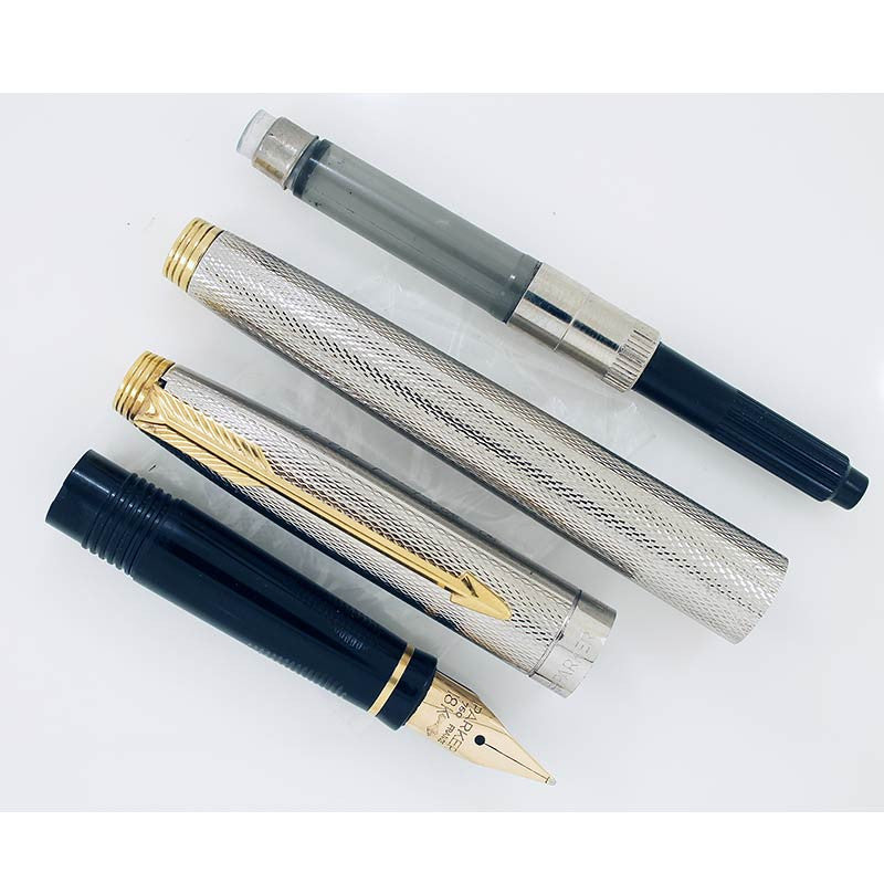 PARKER 75 GRAIN D'ORGE FOUNTAIN PEN WITH 18K GOLD MEDIUM NIB
