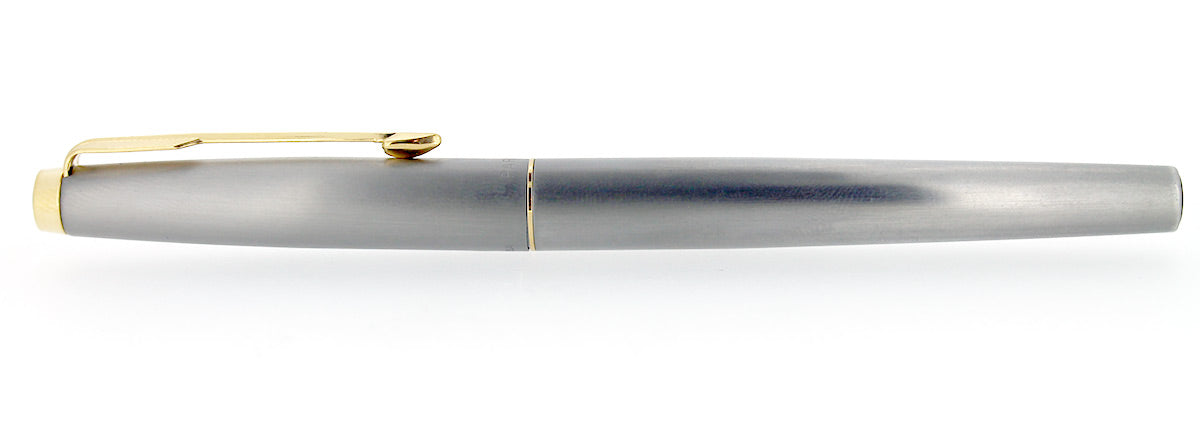 CIRCA 1970s PARKER T-1 TITANIUM FOUNTAIN PEN NEW OLD STOCK NEVER INKED MINT CONDITION OFFERED BY ANTIQUE DIGGER