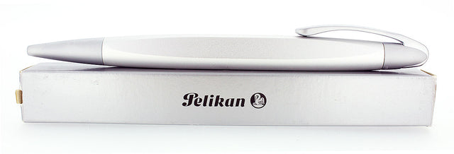 CIRCA 2007 PELIKAN K74 FORM MATTE ALUMINUM BALLPOINT PEN NEW OLD STOCK NEW BOXED OFFERED BY ANTIQUE DIGGER