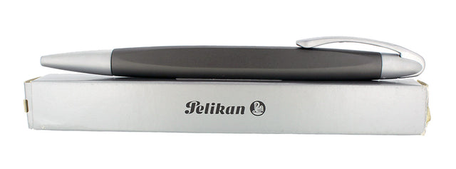 NEW IN BOX PELIKAN K74 FORM ALU-TITAN MATTE BLACK AND ALUMINUM BALLPOINT PEN OFFERED BY ANTIQUE DIGGER
