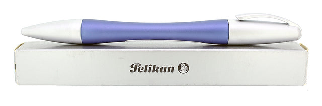 CIRCA 2007 NEW IN BOX PELIKAN K73 BELLE ALU-BLAU MATTE BLUE AND ALUMINUM BALLPOINT PEN OFFERED BY ANTIQUE DIGGER