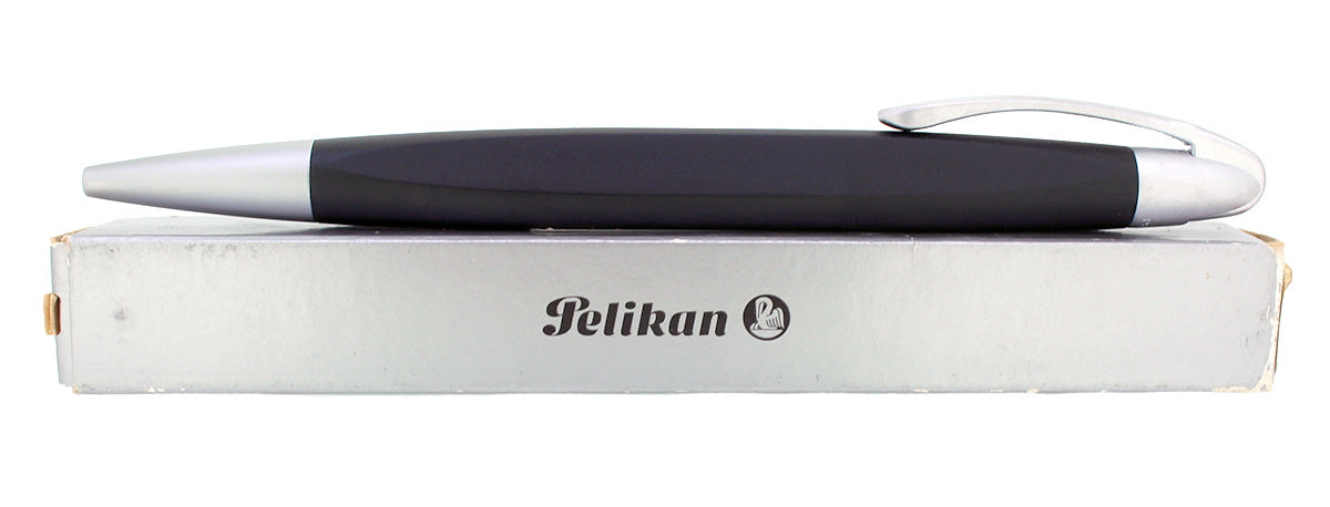 CIRCA 2007 NEW IN BOX PELIKAN K74 FORM BLACK AND ALUMINUM BALLPOINT PEN OFFERED BY ANTIQUE DIGGER