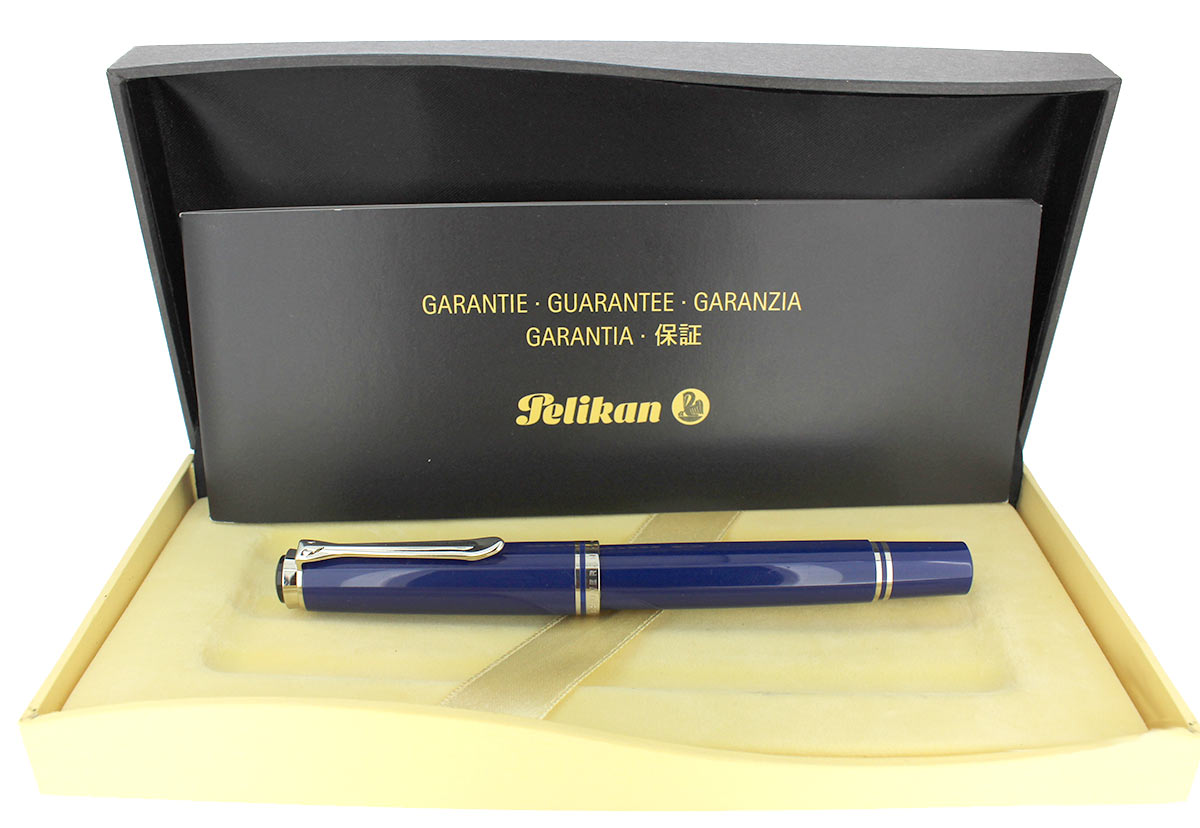 PELIKAN M605 SOUVERAN DARK BLUE FOUNTAIN PEN 14K EXTRA FINE NIB NEW OLD STOCK OFFERED BY ANTIQUE DIGGER